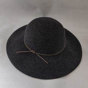 NWT PHENIX Round Crown Floppy Wool & Leather Hat